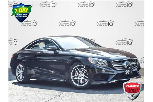 2015 Mercedes-Benz S-Class S550 4MATIC COUPE  LEATHER  GPS  LOW KILOMETERS